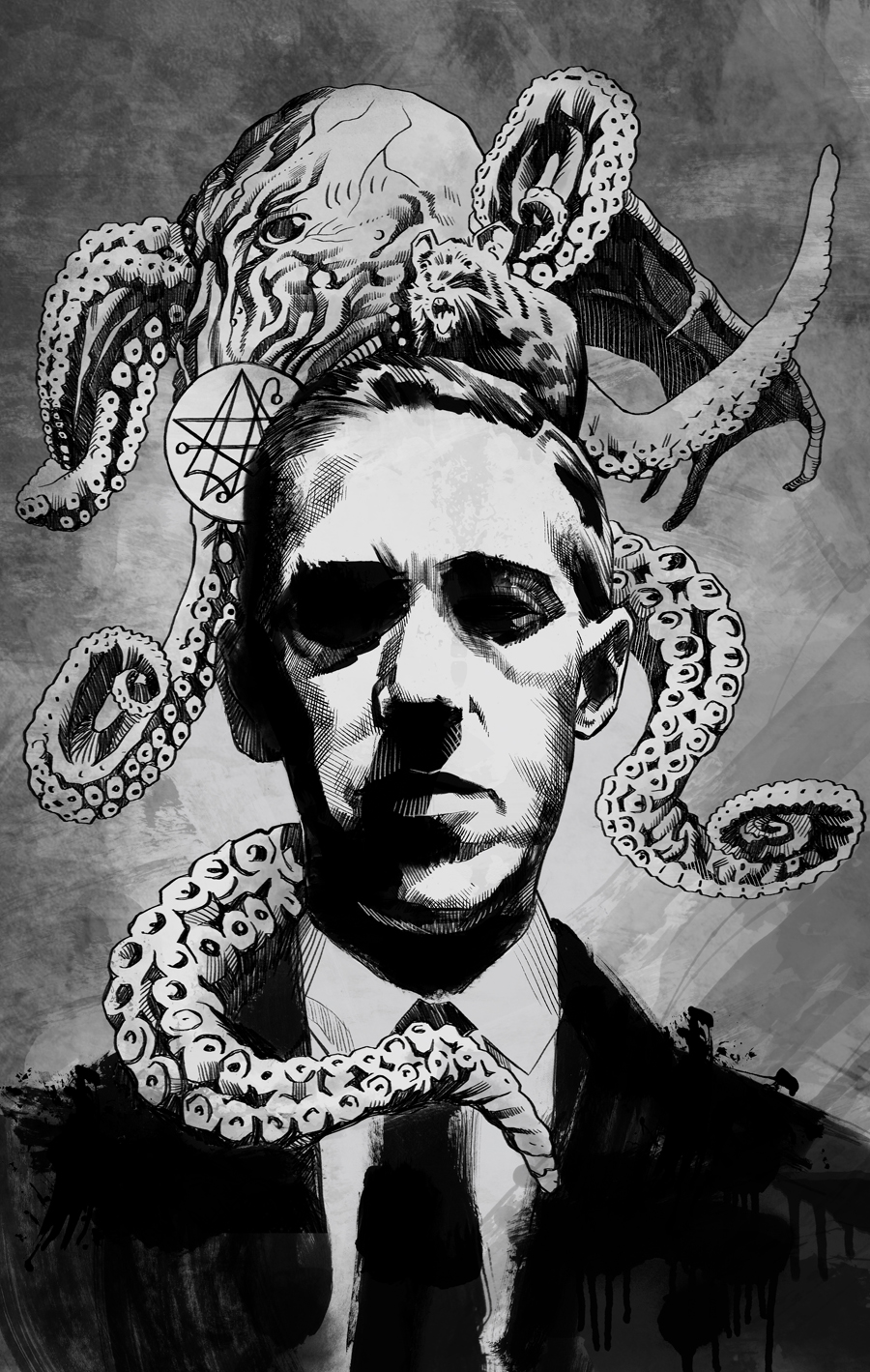 H.P. Lovecraft Print - The Art of Matthew Childers